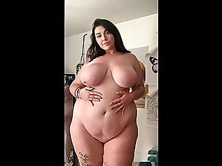 bbw,shower,big boobs