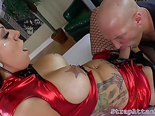 big boobs,femdom,strapon